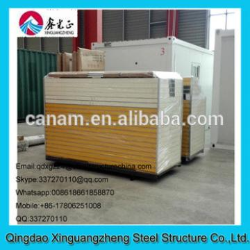 Low cost and energy save sandwich panel frame contianer refugee camp tent house