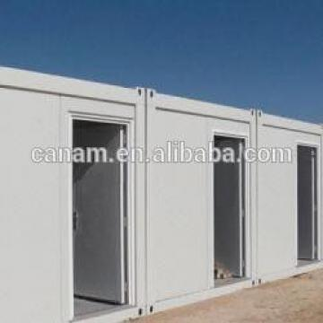Steel structure flat pack container house for labor camp/dormitory