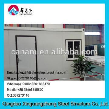 Temporary movable flat pack container house