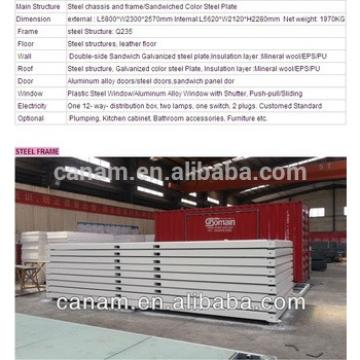 Custom design self contained container house