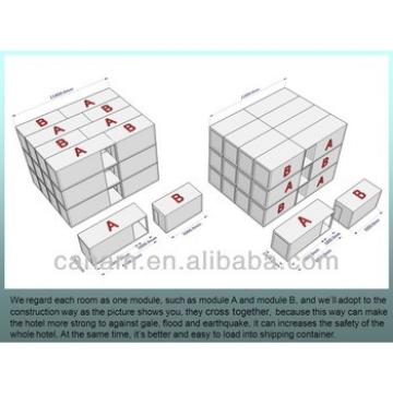 40ft flat packed prefab container hotels