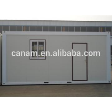 Living container house with glasswool wall and roof