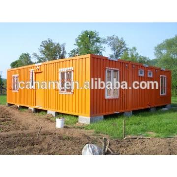 Yellow economic prefab shipping container house for dormitary camp after disaster