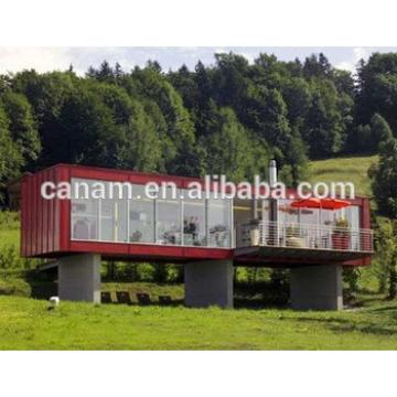 Cargo container house painted colorful container house