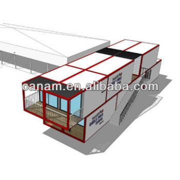 Moveable container housing unit for living