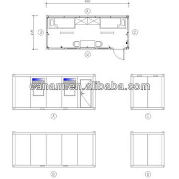 CANAM- Cold formed steel frame prefab house/light gauge steel structure building