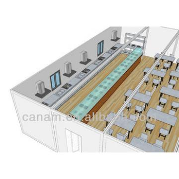 flat pack container house price to be restaurant