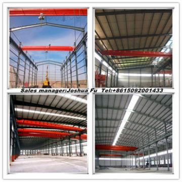 Large scale multi span steel structure workshop with beam crane