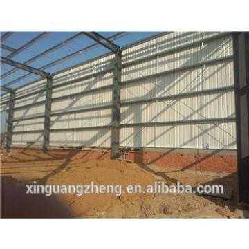 Crane equiped large span steel structure storage shed