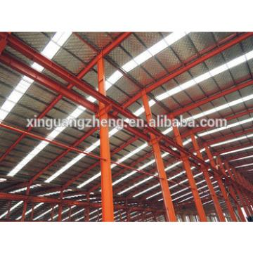 construction large span prefabricate building steel structure flat roof