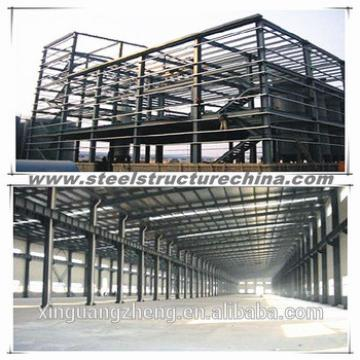Large span portal frame steel structural warehouse shed