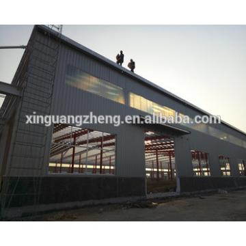 large steel canopy warehouse with fiberglass panel