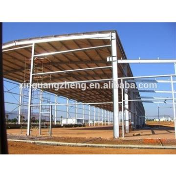 well welded light prefab warehouse curved