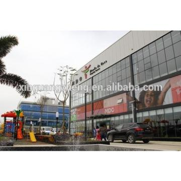 prefabricated steel structure shopping hall