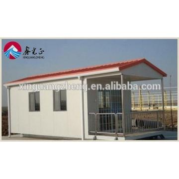 customized easy assembly prefab workers camping