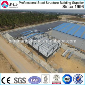 low cost steel frame steel warehouse with office building