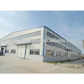 light steel structure metal building prefabricated 1000m2 steel warehouse