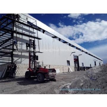 Easy erect sandwich panel prefabricted steel warehouse