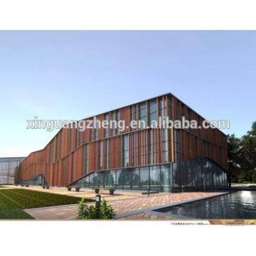prefab steel structure large span building industrial hall showroom construction