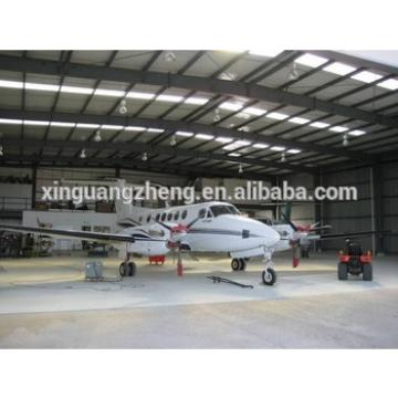 light large span prefabricated steel structure hangar with sliding door