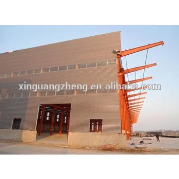 With crane and easy to install and low cost steel structure construction hotel/steel warehouse/steel workshop by CE certifiction