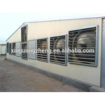 poultry and greenhouse ventilation system made by steel framing