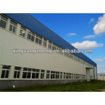 light steel sloping roof structure building construction prefabricated portal frame for sale