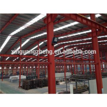 Prefab heavy steel frame warehouse building with skylights