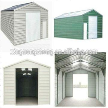 Steel structure car shed/building/garage/poutry shed/hanger/tools shed