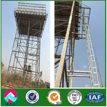 gavernised steel structure water tank tower in africa