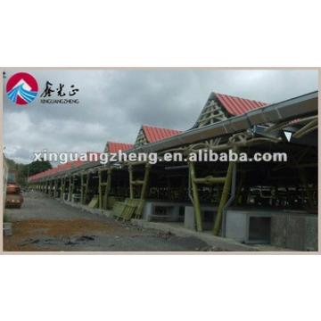 H beam frame with fire sandwich panel wall steel warehouse building