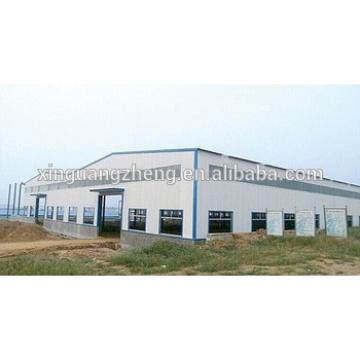 long span prefabricated steel frame barns