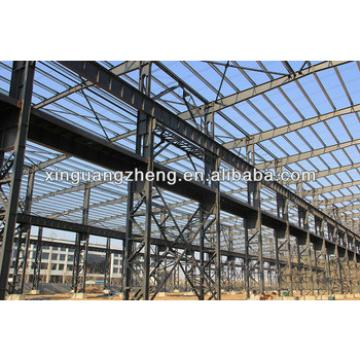 light structural steel industrial warehouse with crane
