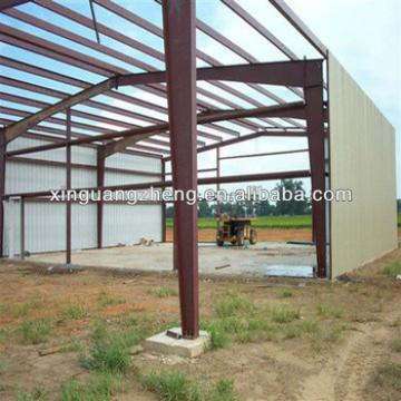 steel structure industrial shed design and construction with galvanized steel sheets