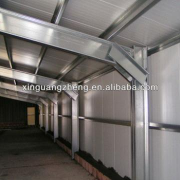 steel structure shed prefabricated design and construction with galvanized steel sheets