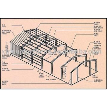 light steel structure fabricated warehouse design and installation