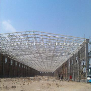 high span light prefabricated roof steel structure gymnasium warehouse worshop shed design and construction