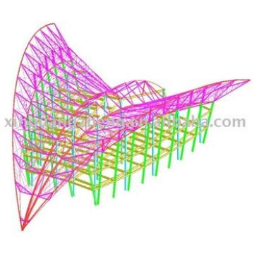 3D design of light steel structural prefabricated warehouse