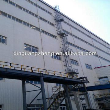 fireproof sandwich panel steel structure warehouse with construction design