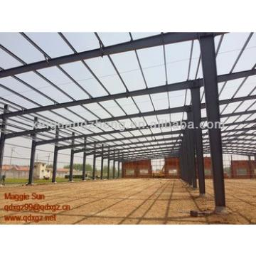 warehouse metallic roof structure welding plant