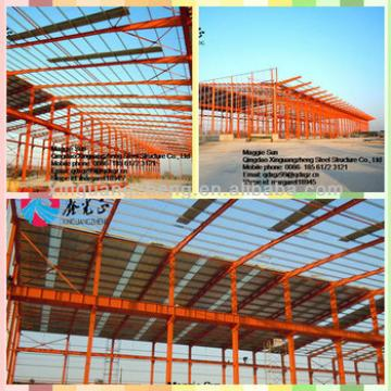 warehouse metallic roof structure