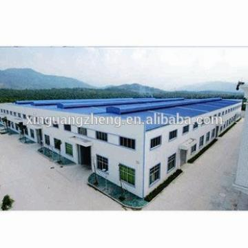 prefabricated warehouse steel column and curved metallic roof structure