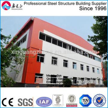 prefab two story steel structure warehouse