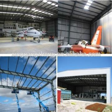 Clear span construction aircraft hangar