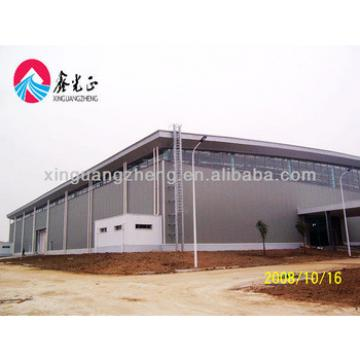 Prefab large span Light steel structure agriculture warehouse metal building industrial shed