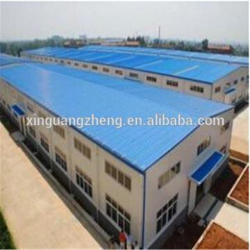 Waterproof Galvanized Structural Steel Warehouse