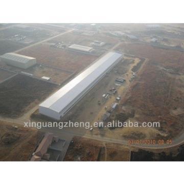 Large span prefabricated steel warehouse