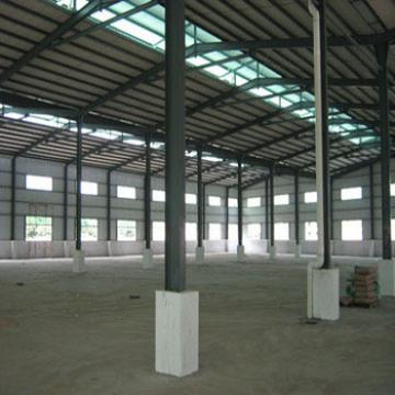 prefabricated steel structure roofing shed for concret building