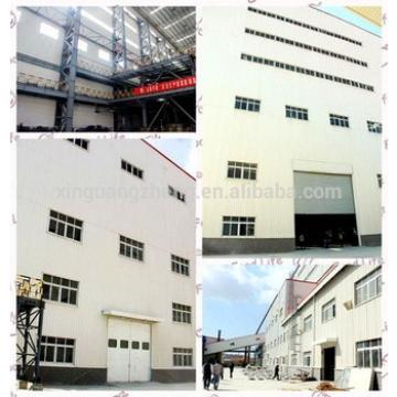 Light steel structure warehouse with office with green color steel roofing plate