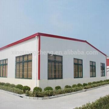 Light steel structure warehouse for plant with green color steel roofing plate
